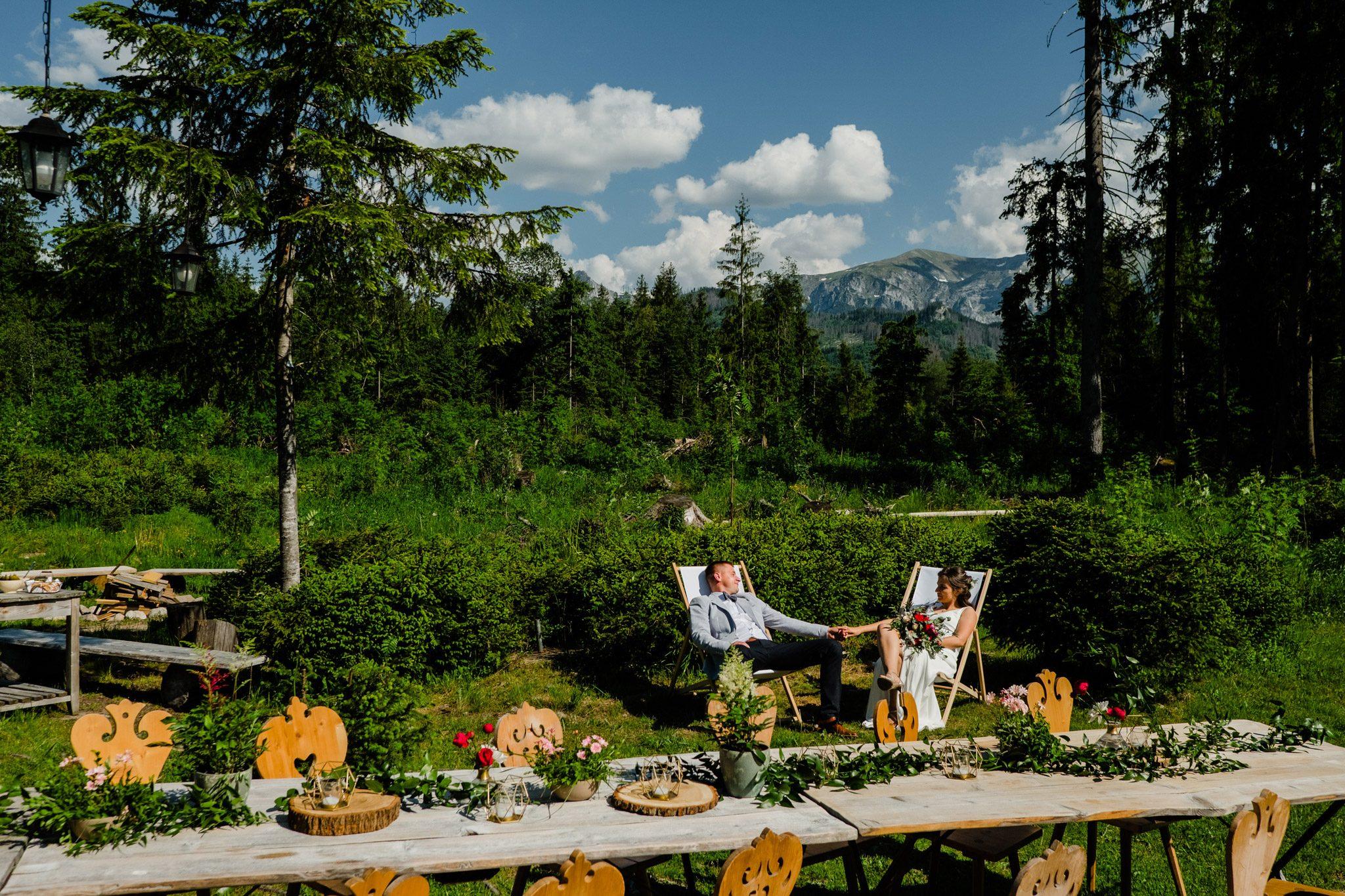 Plenerowe wesele w górach